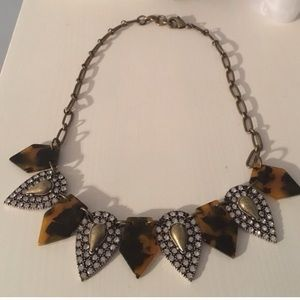 J crew tortoise statement necklace